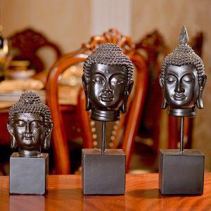 bộ 3 tượng phật cổ decor