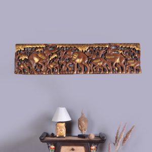khắc gỗ nghệ thuật hình voi
