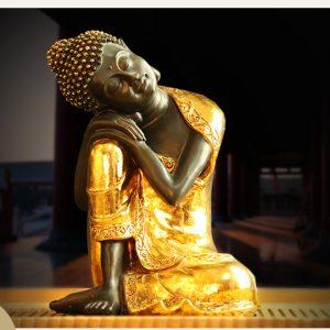 tượng Thích Ca Mâu Ni Di Lặc zen vàng