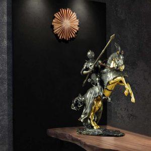 resin thủ công mỹ nghệ Roman Hiệp Sĩ đồ trang trí