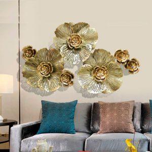 trang trí treo tường hoa mai vàng