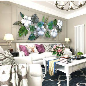 trang trí treo tường hình lá +hoa