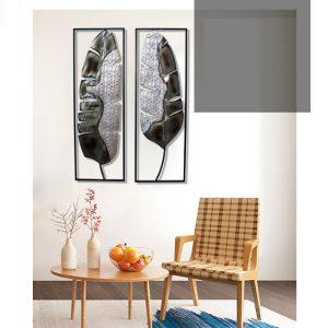 trang trí treo tường cặp lá decor