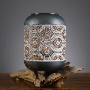 Châu âu retro nến hàng thủ công sắt đèn lồng trang trí