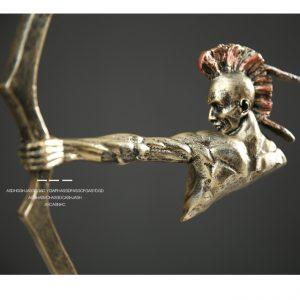 tượng thổ dân bắn cung phong cách Ấn độ ( cao 50cm).
