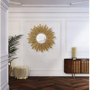 trang trí treo tường gương tia nắng mặt trời