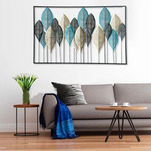 trang trí treo tường lá xanh rừng decor