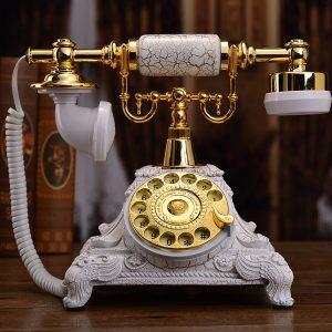 Châu Âu cổ điện thoại quay retro